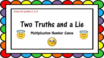Two Truths and a Lie: Multiplication Task Cards