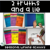 Two Truths and a Lie Year Long Writing Prompts