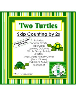 Two Turtles:  Skip Count by 2s