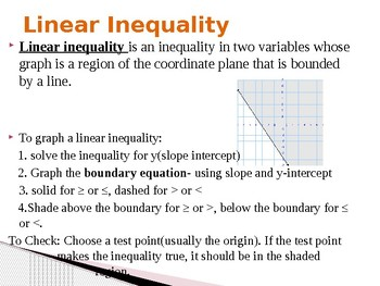 Two Variable Inequalities Powerpoint