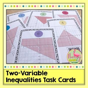 Algebra 2: Two Variable Inequalities Task Cards QR Codes