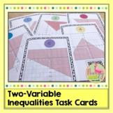 Two Variable Inequalities Task Cards QR Codes (Algebra 2 -