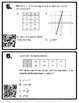 Two Variable Relationships Task Cards Additive and Multiplicative w/ QR codes