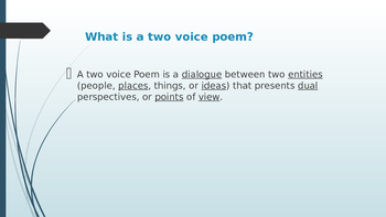 Two Voice Poem Power Point