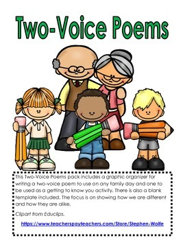 Two Voice Poem Template
