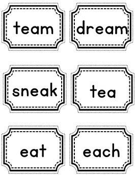Two Vowels Go Walking AI, OA, EA, Word Game - BAM!