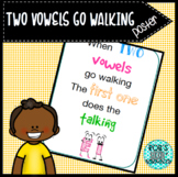 Two Vowels Go Walking Poster