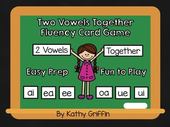 Vowel Teams Fluency Card Games and Activities