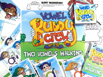 Two Vowels Walking Buddy Combo Pack (Cards, Posters, Practice Mats)