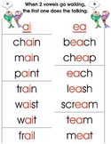 Phonics- Vowel Teams-Two Vowels Walking