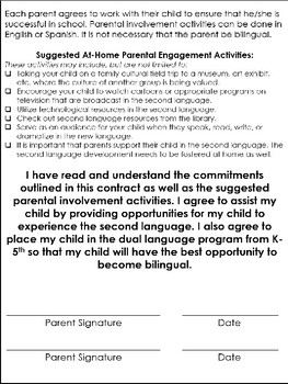 Two-Way Dual Language Program Contract