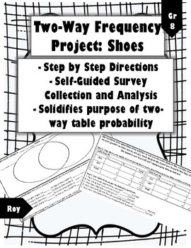 Two-Way Frequency Project: Shoes (Self-Guided, Common-Core Aligned)