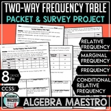 Two-Way Frequency Table Practice Packet & Project
