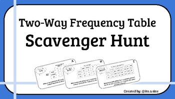 Frequency Table Scavenger Hunt Worksheets & Teaching Resources | TpT