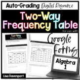 Two- Way Frequency Tables- for use with Google Forms