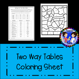 Two Way Tables Coloring Sheet