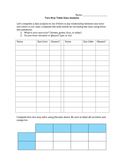Two-Way Tables Data Collection and Analysis Activity