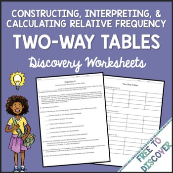 Two-Way Tables Discovery Worksheets