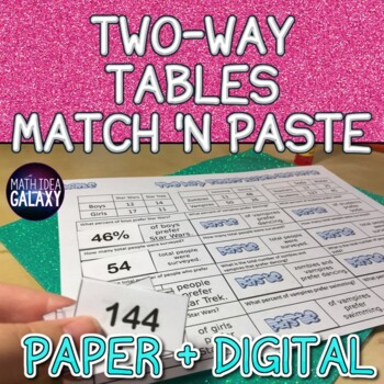 Two Way Tables Match and Paste Activity