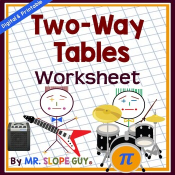 Two Way Tables Statistics Pdf Worksheet Go Math | Tpt