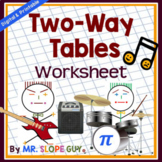 Two Way Tables Worksheet (Distance Learning)