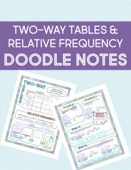 Two-Way Tables and Relative Frequency Doodle Notes