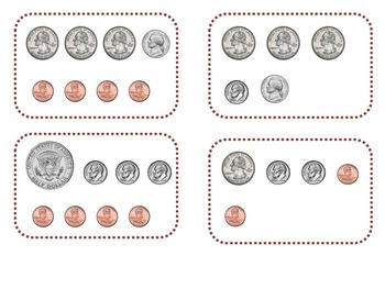 Two Ways to Represent Coin and Dollar Bill Amounts
