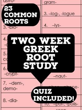 Two Week Greek Root Study