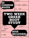 Two Week Greek Root Study