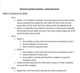 Two Week Greek/Latin Root Vocabulary Lesson Plans