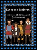 Two Weeks of European Exploration Morning Work {or homework}