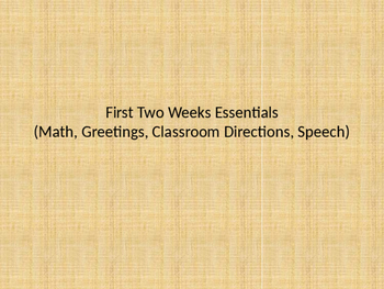 Two Weeks of Spanish Class in PPT slides