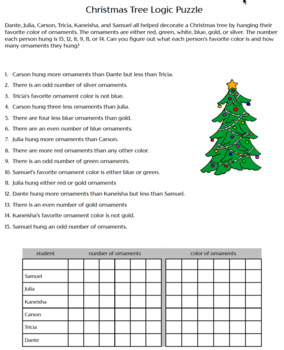 Two Weeks to Christmas Logic Puzzle Bundle - Great for Critical Thinking!