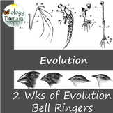 Two Wks of Evolution and Natural Selection Bellringers War