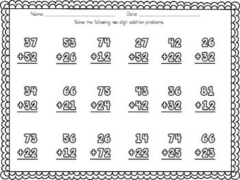 Two and Three Digit Addition and Subtraction Word Problems