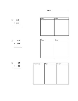 Two and Three Digit Addition Exit Ticket