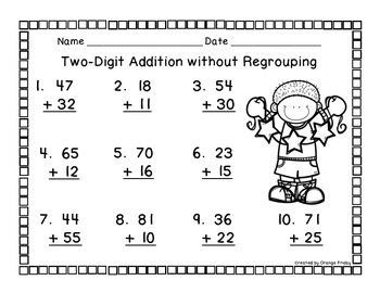 Two and Three Digit Addition Printables