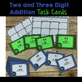 Two and Three Digit Addition Task Cards