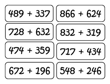 Two and Three Digit Addition and Subtraction Problems