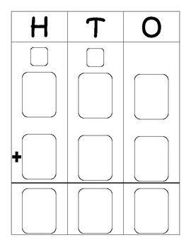 Two-and Three Digit Addition and Subtraction Work Mat Templates