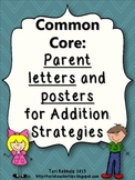 Two and Three Digit Addition strategies Parent letters {Common Core Aligned}