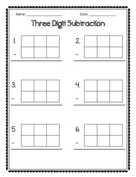 Two and Three Digit Math Papers