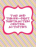 Two and Three-Digit Subtraction Centers -- Common Core Aligned!