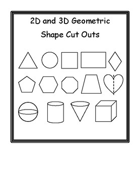 Two and Three Dimensional Geometic Cut Outs