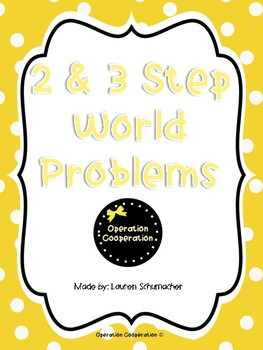Two and Three Step Word Problem Task Cards