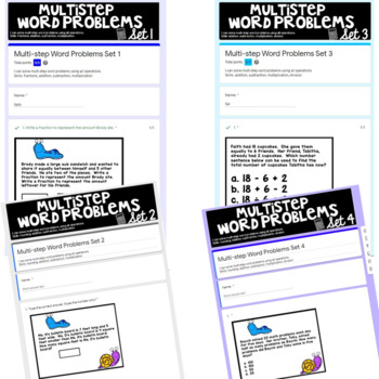 Two and Three Step Word Problems Test Prep