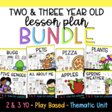 Two and Three Year Old Lesson Plans BUNDLE