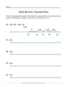 Two and Three digit Addition and Subtraction Open Number Line Bundle
