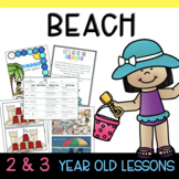 Two and Three's BEACH Lesson Plans