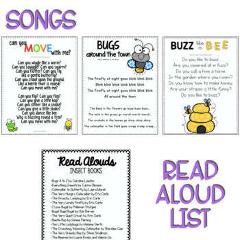 Two and Three's BUGS Lesson Plans